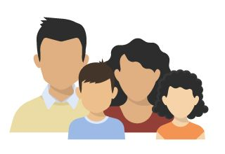 illustration of family with 4 persons